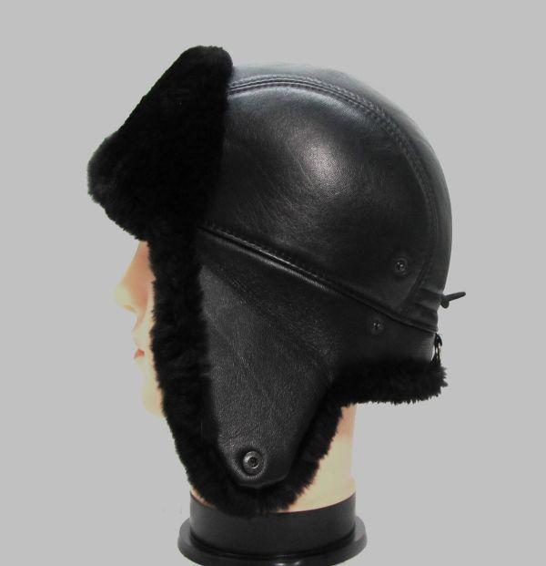 Меховая мужская шапка из стриженого бобра М-003-Б