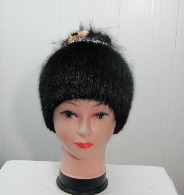 Меховая Женская Шапка из Ондатры М-014-О