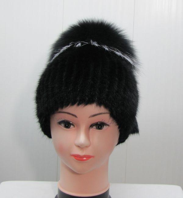 Меховая Женская Шапка из Ондатры «Бубон» М-013-О
