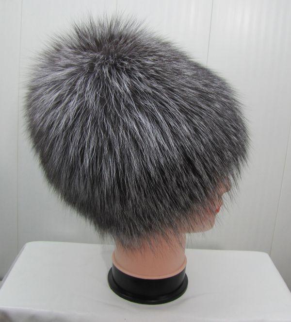 Меховая женская шапка из чернобурки М-005-Ч
