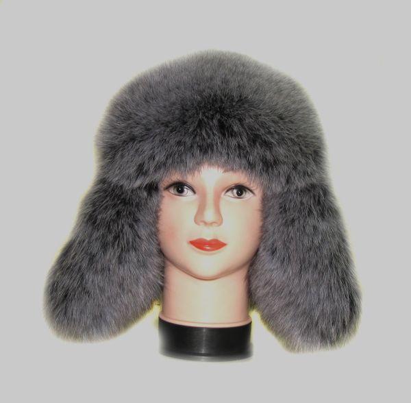 Меховая женская шапка «Зимушка»из песца М-006-П